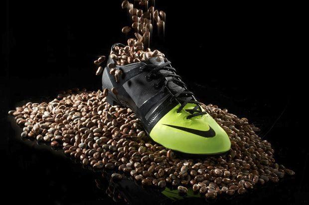 Nike GS resting on Castor Beans
